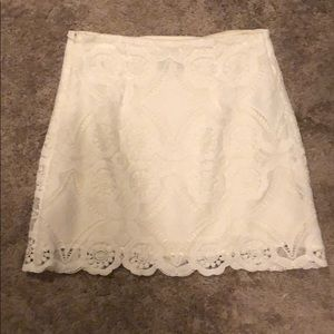 Abercrombie & Fitch white lace skirt